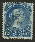 Canada 1868 Large Queen 12 1/2c Blue #28 - CDS HALIFAX JU 18 ??