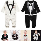 Newborn Baby Kid Boy Infant Outfits Jumpsuit Romper Bodysuit Tuxedo Suit Clothes