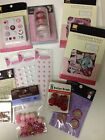 Scrapbooking Valentine Baby Girl Pink Titles Chipboard Brads Ribbon Flowers New