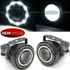 For Edge 3 Round Projector Fog Lamps w 9 White LED Halo Light Set
