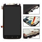 Black LCD Display Touch Screen Digitizer Assembly  + Frame For HTC ONE X AT