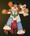 Trike Tear Bear Girl with Teddy Piecing for Scrapbook Page