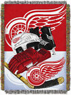 Detroit Red Wings Home Ice Advantage Woven Tapestry Throw 48x60