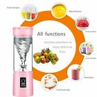 500ML Portable Travel Fruit Blender USB Rechargeable Juicer Cup Water Bottle