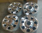 20 Ford F250 F350 OEM Factory Wheels CHROME CLAD 2005 17 FREEshipping Set of 4