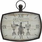 Vintage French Wall Clock Roman Numerals Unique Hanging Decor Timepiece Display