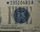 1934 D STAR $5 FIVE DOLLAR SILVER CERTIFICATE BLUE SEAL - Free Shipping
