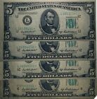 4 - 1950 B STAR $5 FIVE DOLLAR FEDERAL RESERVE NOTE - CURRENCY - Free Shipping