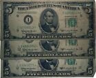 3 - 1950 D STAR $5 FIVE DOLLAR FEDERAL RESERVE NOTE - CURRENCY - Free Shipping