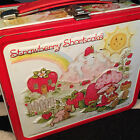 Vintage 1980 STRAWBERRY SHORTCAKE Aladdin Metal Lunch Box With Thermos 80s