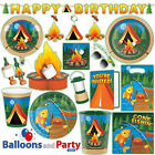 Camp Out Camping Adventure Outdoor Birthday Party Tableware Decorations Supplies