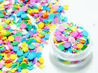 FAKE KAWAII SRPINKLES MIXTURE HEARTS STARS CONFETTI POLYMER CLAY SMALL JAR USA