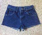 High Rise Red Tag Wrangler Denim Cut Off Vintage Jean Shorts 0 24 Dark Wash