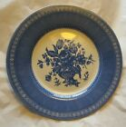 CHURCHILL ENGLAND  OUT OF THE BLUE 10 3/4 DINNER PLATE BLUE / WHITE