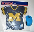 MICHIGAN WOLVERINES JERSEY SHAPED NEOPRENE MOUSE PAD FROM KOLDER