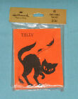 vintage Hallmark HALLOWEEN TALLY CARDS MIP new sealed black cat with leaves