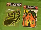 vintage Beistle Halloween SCRATCH CATS jointed cats  CUTOUTS sealed package lot