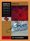 2000-01 , UPPER DECK , HEROES , BOBBY HULL , SIGNS OF GREATNESS , AUTO