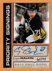 2011 , UPPER DECK , FALL EXPO , EVGENI MALKIN , PRIORITY SIGNINGS , AUTO , 71