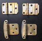 Vintage chrome hinges 2 pairs deco MCM hardware salvage cabinet kitchen bathroom