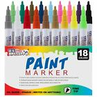 18 Color Set of Oil Based Paint Pen Markers Fine Point Tips Permanent Ink