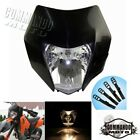 Black Dual Sport Dirt Bike Headlight Fairing For Suzuki KTM XCW 200 SX 105 RC8R