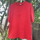 Vintage 90s Red Guess Jeans Spellout Striped type Tee In Size L