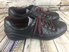 Ecco Leather Oxfords Flats Lace Ups Shoes Black Womens 8 85 Sneakers 39