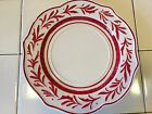 Fitz & Floyd Town & Country Dinner Plate Red Vine Beautiful Red & White Pattern