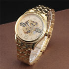 Gold New Luxury Fashion Mens Automatic Mechanical Wrist Watch Stainless Steel