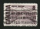 Canada 1967 Centennial 8c violet brown Plastic Flow variety 461iii VF used