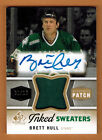 2014-15 , UD , SP GAME USED , BRETT HULL , INKED SWEATERS , AUTO , PATCH , 1 10