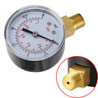 50mm Low Pressure Gauge 1/4 BSPT Bottom Connection for Air Fuel Oil/ Water/Gas