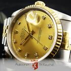 Rolex Datejust Gold Stahl Automatic Diamant-Indexe Ref. 16233 Chronometer 36 mm