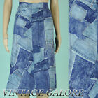 VTG Blue Jean Swing Rockabilly Country Girl A line Denim Mid length skirt M L