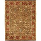 Safavieh Heritage 2' X 3' Hand Tufted Wool Pile Rug in Moss and Rust