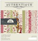 CHRISTMAS Collection 6x6 Scrapbooking Paper Crafting Pad Authentique CMT008 NEW