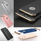 Ultra Thin Slim Hard Case Cover For Apple iPhone 6 6S 7 Plus + Tempered Glass