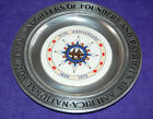 75th Anniversary Plate Daughters of Founders  Patriots of America 1899 1973