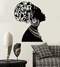Vinyl Wall Decal African Girl Black Woman In Turban Native Stickers 1545ig