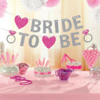 BRIDE TO BE BRIDAL SHOWER GLITTER PINK BANNER BUNTING WEDDING PARTY DECOR LOVE
