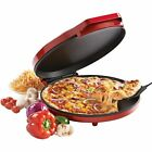 Pizza Maker Red Desserts Food Beverages Home Oven Cooker Nonstick Electric Pan