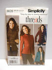 Simplicity Sewing Pattern 3628 Threads Collection Misses Jackets SZ 8 16 UNCUT