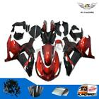 Red Black Body Fairing Fit for Kawasaki 2006-2011 ZX14R ZZR1400 Injection i01