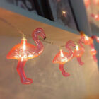 Pink Flamingo Fairy 10 LED String Lights for Party Patio Porch Wedding Decor