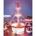 Beverage Party Fountain Lighted Fruit Punch Drink Dispenser Bowls Electric Tier