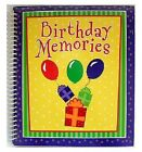 Birthday Memories Keepsake Scrapbook And Photo Album