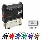 Self Inking Rubber Stamp with up to 2 Lines of Custom Text SHIPS FOR FREE