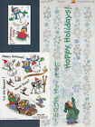 Suzy Zoo Stickers Border Ollie Let it Snow The Gang Sleding Snowman