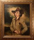 Beautiful Mid Century Oil Painting Female Portraitby Theodore Werner Film Noir